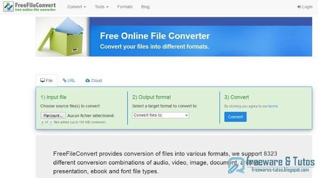 FreeFileConvert  : un outil en ligne de conversion de fichiers multi-formats