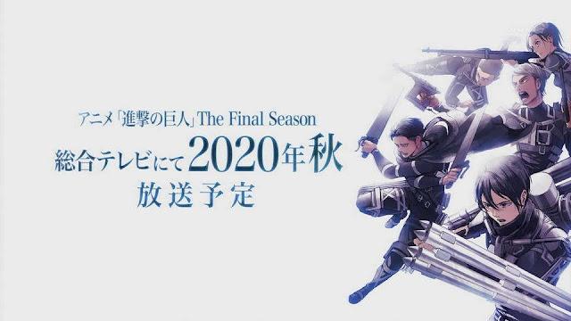 Attack on Titan The Final Season Akan Premiere Fall 2020