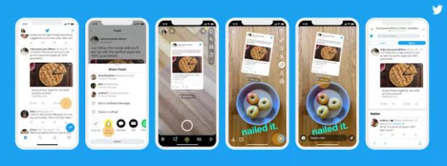 تويتر تتيح للمستخدمين بالتغريدات على Snapchat