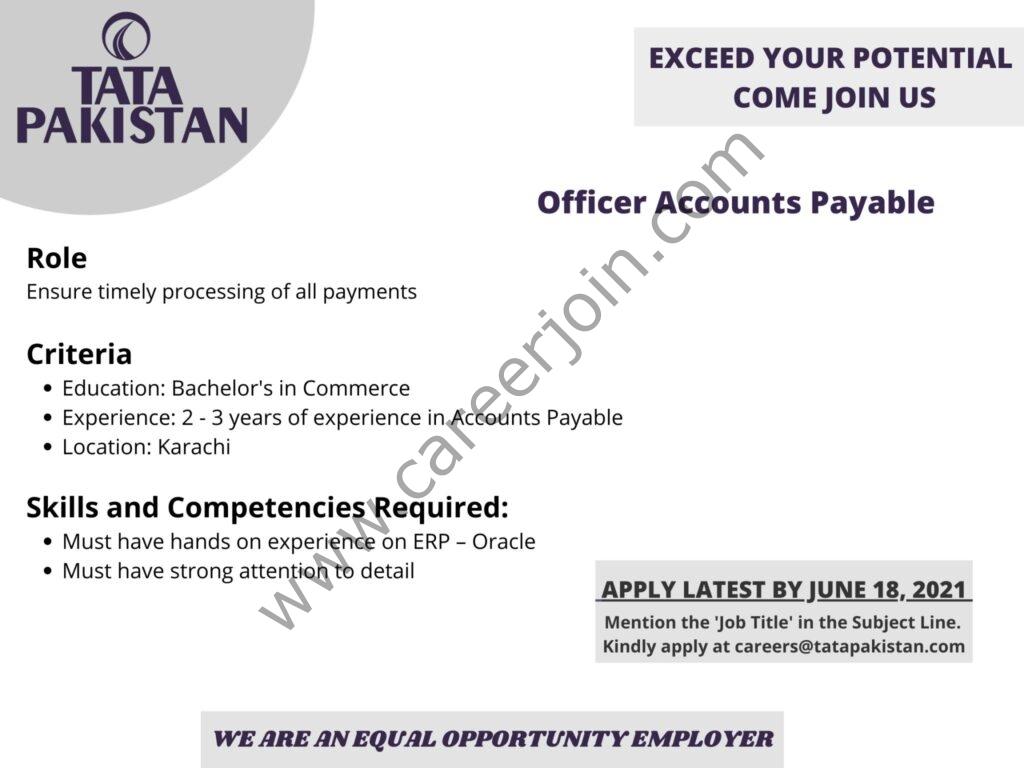 careers@tatapakistan.com - TATA Pakistan Jobs 2021 in Pakistan