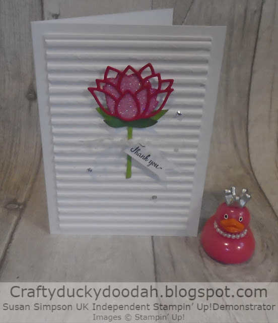 Craftyduckydoodah!, Lovely Lily, Lily Pad Dies, Susan Simpson UK Independent Stampin' Up! Demonstrator, Supplies available 24/7 from my online store, SAB 2020, #JOSTTT013