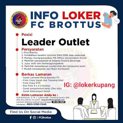 Lowongan Kerja FC Brottus Sebagai Leader Outlet