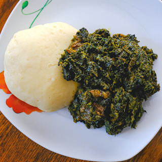 fufu and vegetable soup