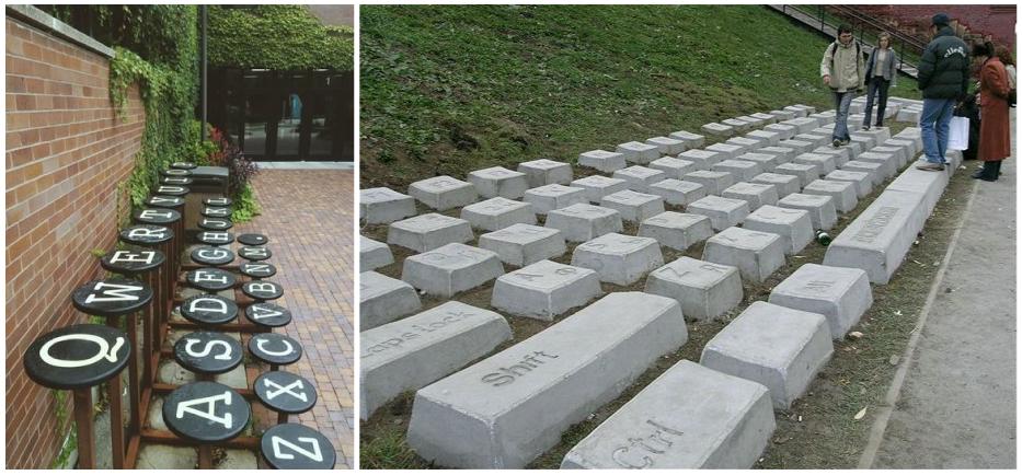 Keyboard Monument Anatoly Vyatkin escultura urbana