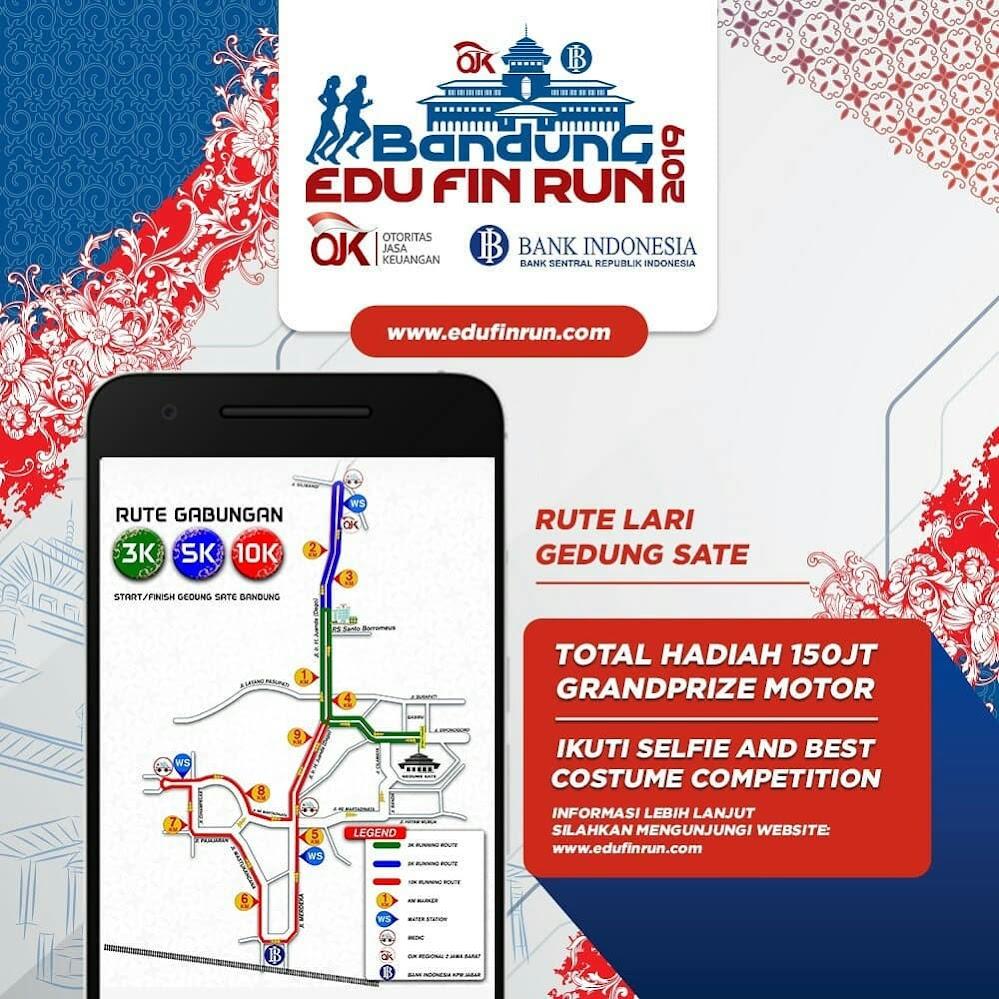 Rute Bandung Edu Fin Run 2019