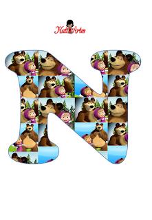 Abecedario de Masha y el Oso. Masha and the Bear Alphabet.