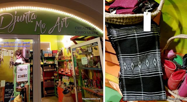 Loja Djunta Mo Art, de produtos de Cabo Verde, em Santa Maria, Ilha do Sal