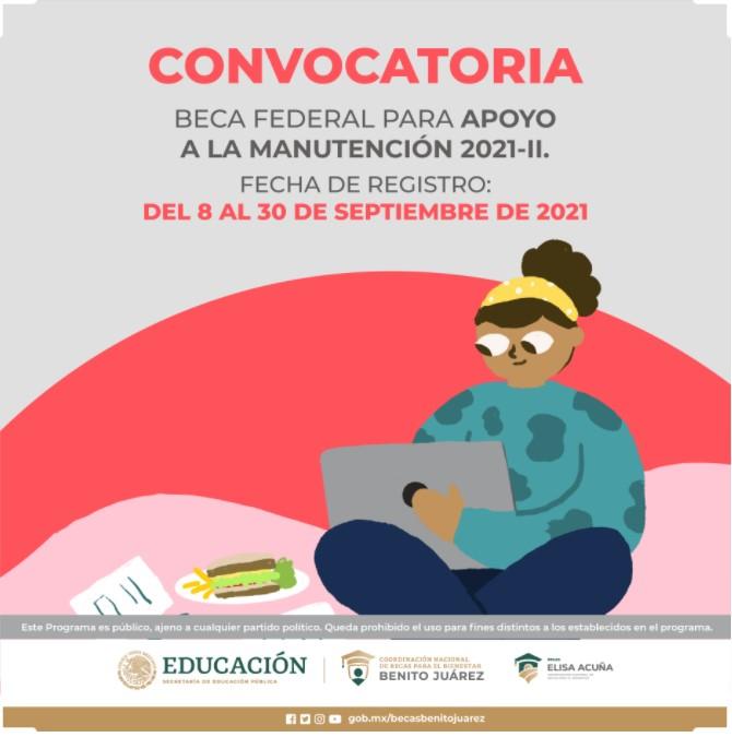 Convocatoria 2021 - Beca Federal para el Apoyo a la Manutencion