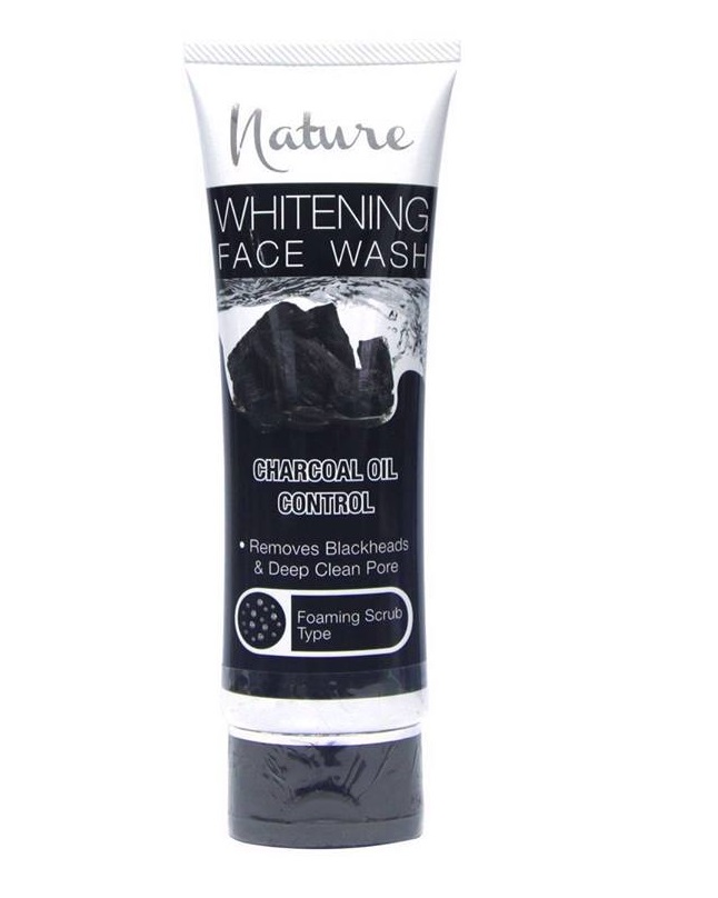 NATURE CHARCOAL OIL CONTROL WHITENING FACE WASH 100 G