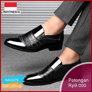 NAG076 Sepatu Pantofel Formal Ujung Lancip Pria Murah Bmgshop