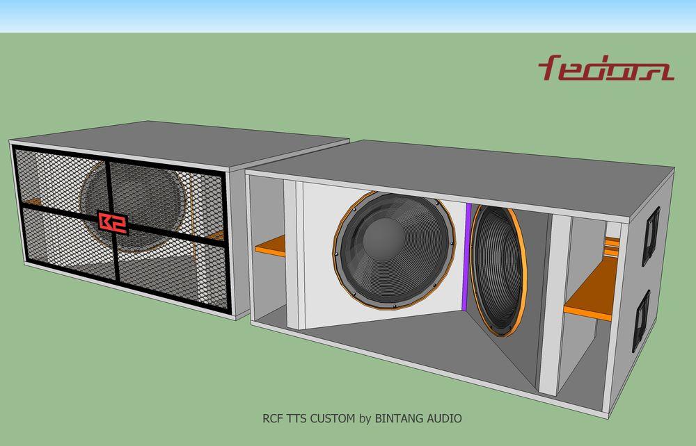 Skema Box Subwoofer Model RCF TTS36 Custom