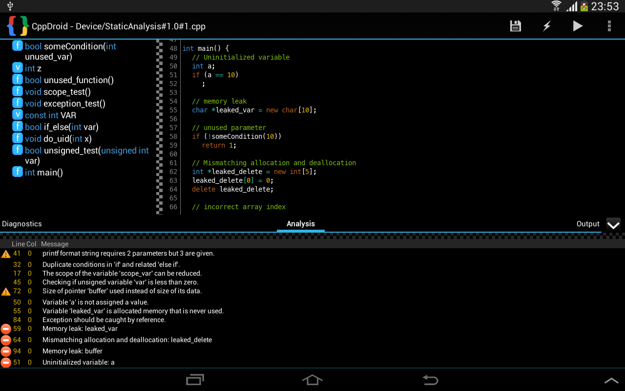 CppDroid - C/C++ IDE for Android: 2014