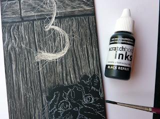 Ampersand Scratchbord Black Repair Ink