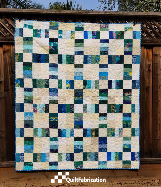 Sea Glass, a Railroad Crossing quilt pattern