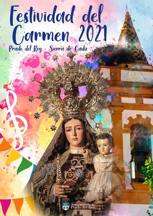 Cartel de la Festividad del Carmen 2021 de Prado del Rey