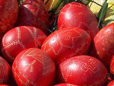 Easter Eggs Red