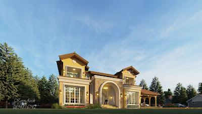 แบบบ้าน2ชั้น สไตล์ทัสคานี เจ้าของอาคาร คุณสิทธ์ สถานที่ก่อสร้าง แม่สาย จ.เชียงราย