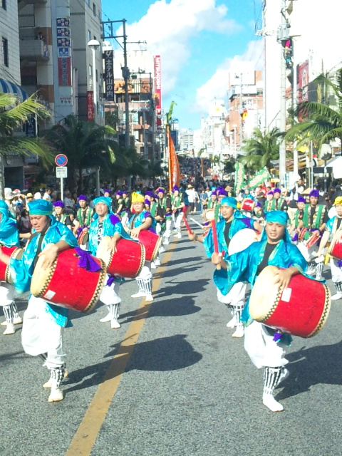Eisa Dance with 10,000 people, Naha City, Okinawa Pref.