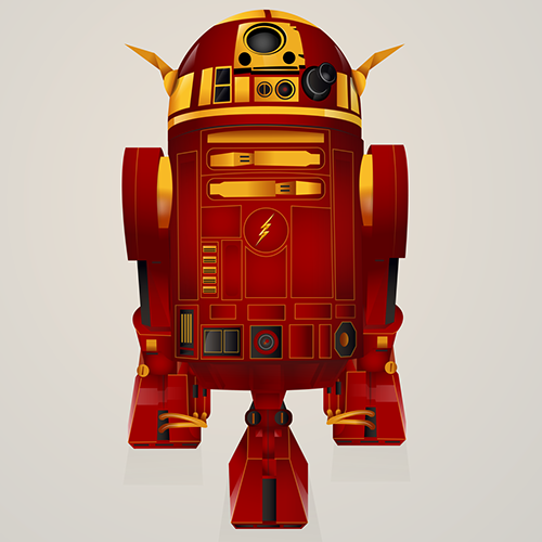 06-The-Flash-Steve-Berrington-Batman-v-Superman-and-their-Superhero-R2-D2-Friends-www-designstack-co