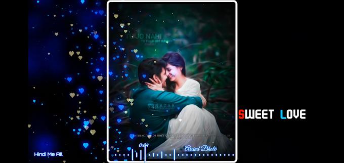 Jhuki Teri Palko Mein WhatsApp status Feeling Love Cute love song || new Avee player