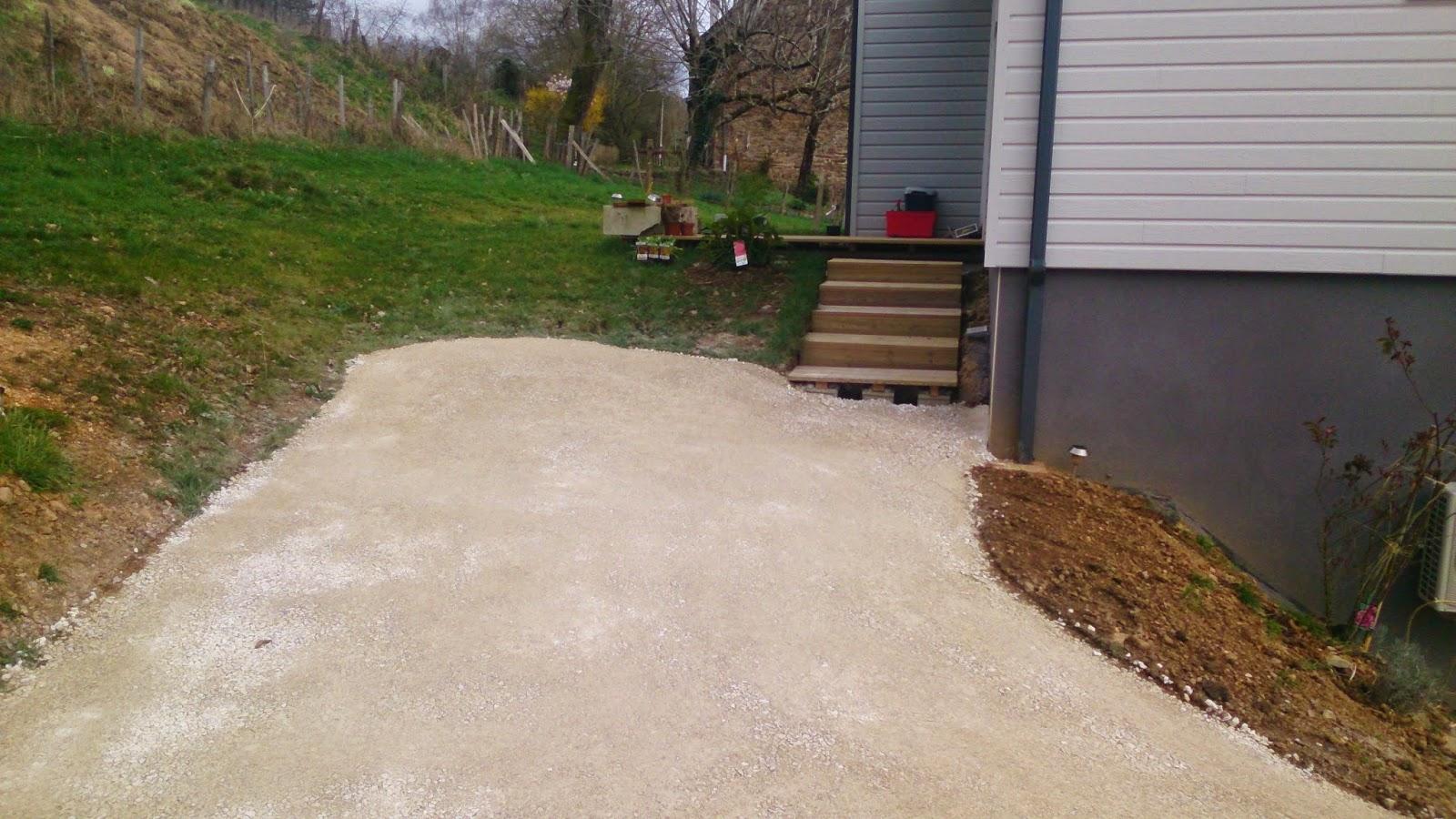le jardin de nils le projet de la descente de garage. Black Bedroom Furniture Sets. Home Design Ideas
