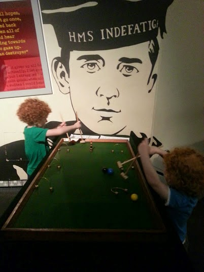 The Imperial War Museum North Summer events for children playing bagatelle
