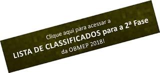 Classificados para a 2ª Fase Obmep 2018