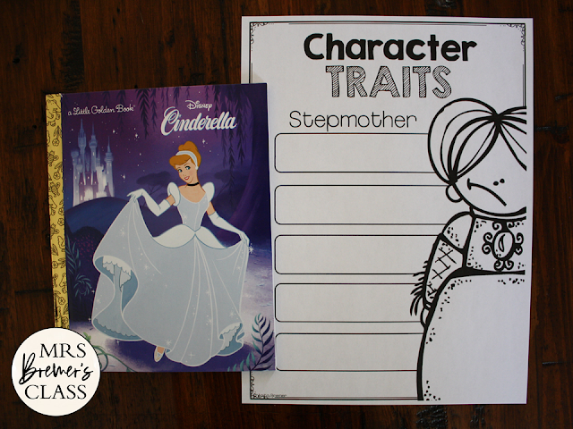 Cinderella Fairy Tales activities unit with Common Core aligned literacy companion activities for First Grade and Second Grade