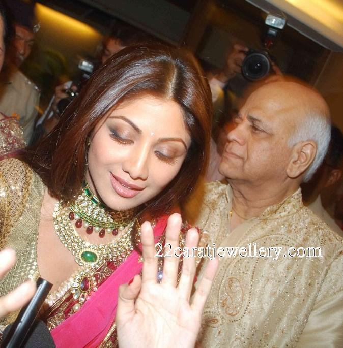 Shilpa Shetty Wedding And Reception Kundan Jewellery Jewellery Designs