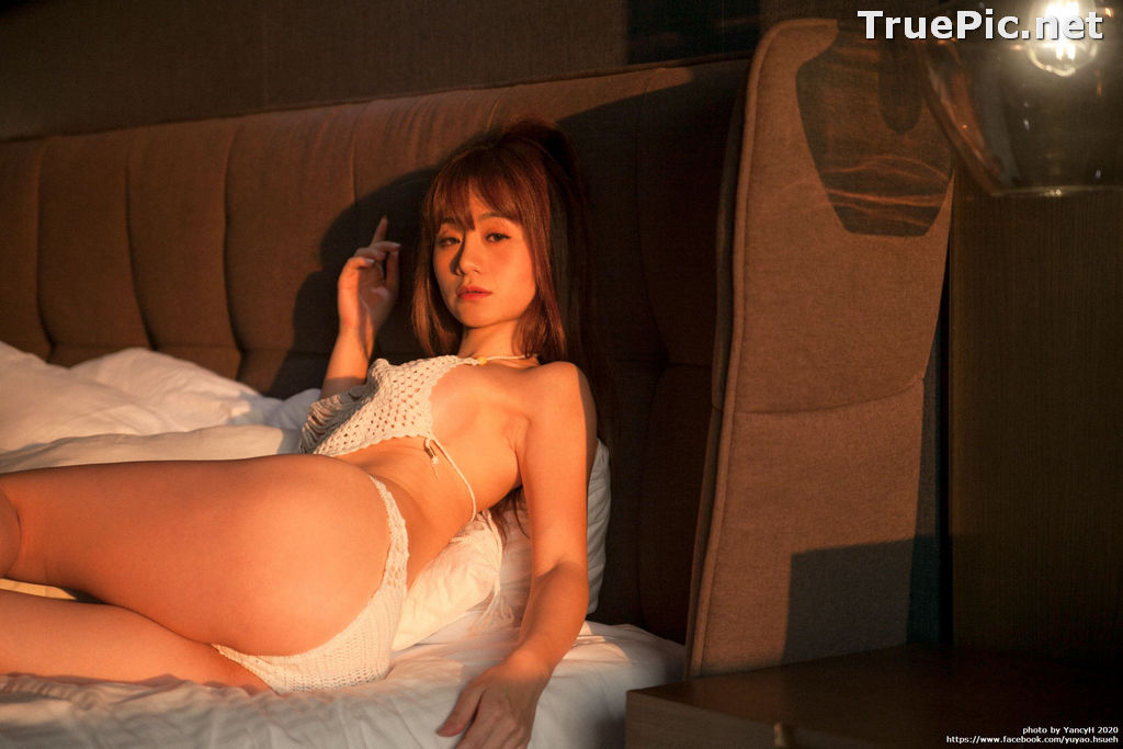 Image Taiwanese Model - Xin Ya - White Lace Lingerie For You - TruePic.net - Picture-8