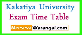 Kakatiya University B.Pharmacy 2nd / 3rd Year 1st Sem March 2017 Exam Time Table