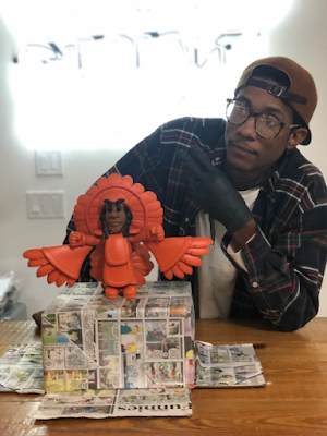 Spy Boy Legacy Orange Edition Resin Figure by Compton III x Space Broccoli