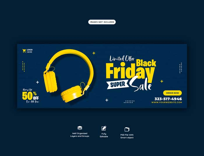 Black Friday Super Sale Cover Banner Template