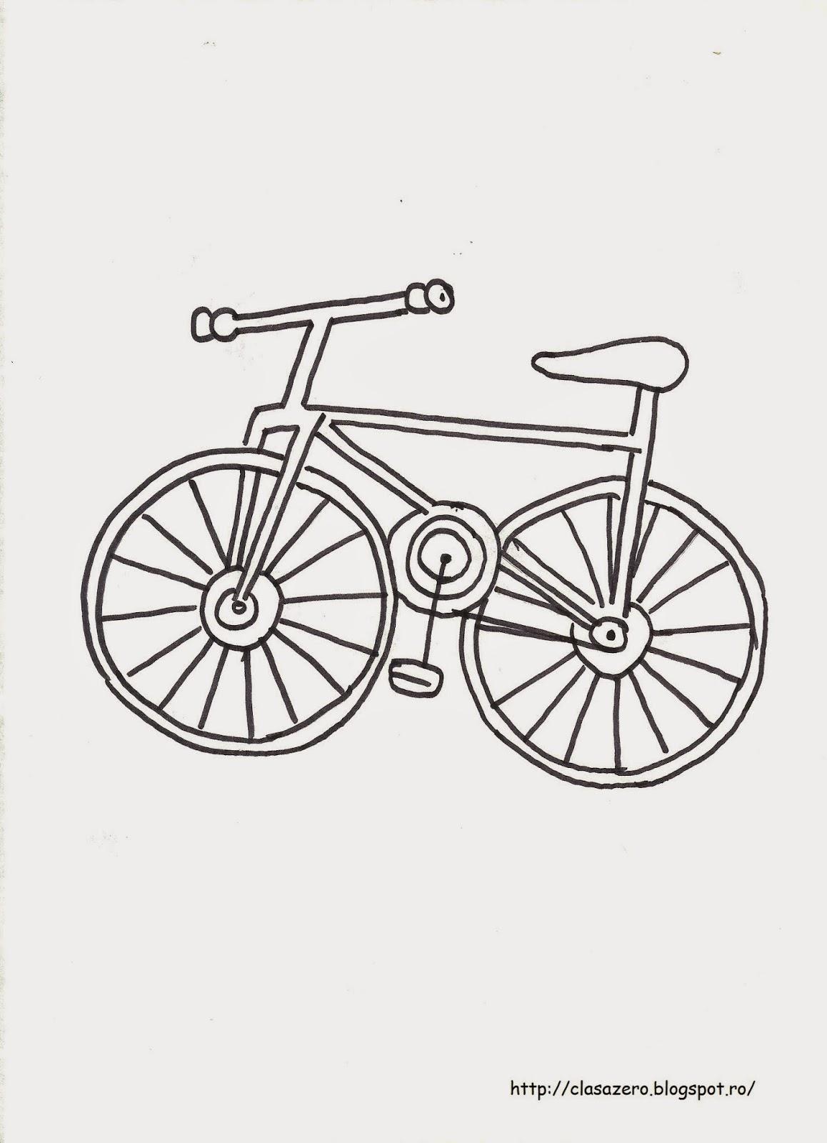 Clasa Pregatitoare Plansa De Colorat Bicicleta