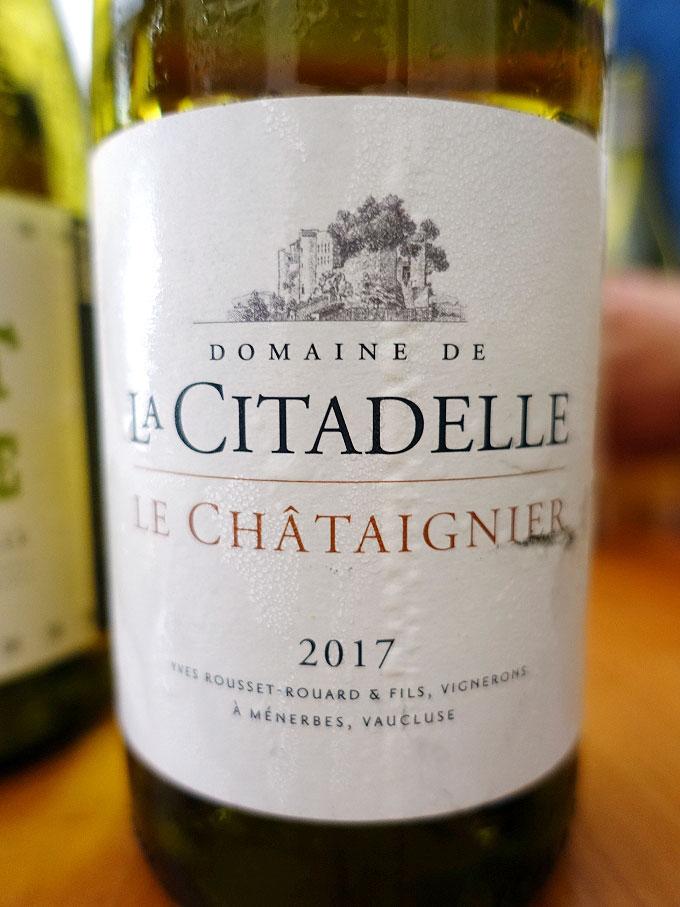 Domaine de la Citadelle Le Châtaignier Blanc 2017 (88+ pts)