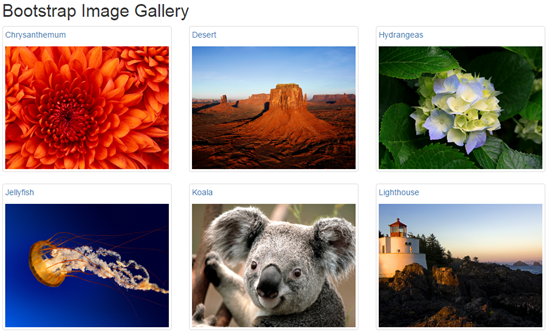 bootstrap image gallery example