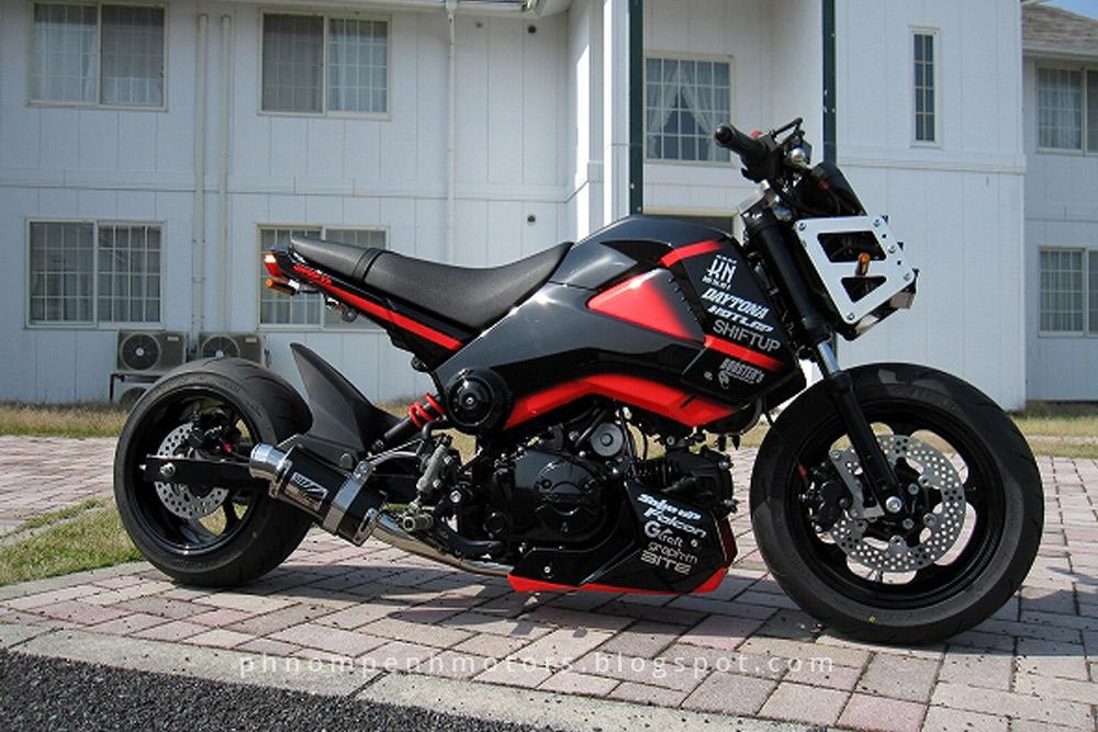 Ray Price Honda >> Revolution Honda MSX Custom Modification (ម៉ូតូ MSX ដែលបានចៃ្នហើយ) - Phnom Penh Motors