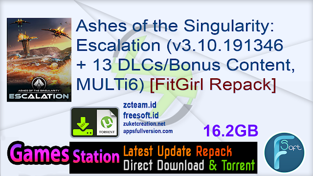 Ashes of the Singularity: Escalation (v3.10.191346 + 13 DLCs/Bonus Content, MULTi6) [FitGirl Repack, Selective Download – from 6.9 GB]