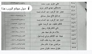 اسماء المشمولين في الرعاية الاجتماعية محافظة المثنى