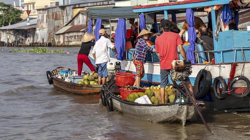Floating market in Can Tho, Mekong Delta, Vietnam