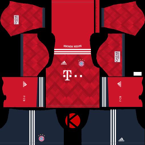 FC Bayern Munich 2018/19 Kit - Dream League Soccer Kits
