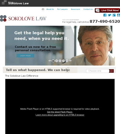 About Sokolove Law Office