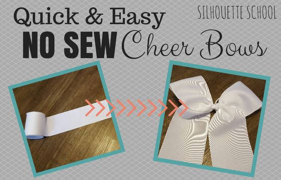 silhouette america blog, silhouette 101, cheer bows, no sew bow, easy cheer bow