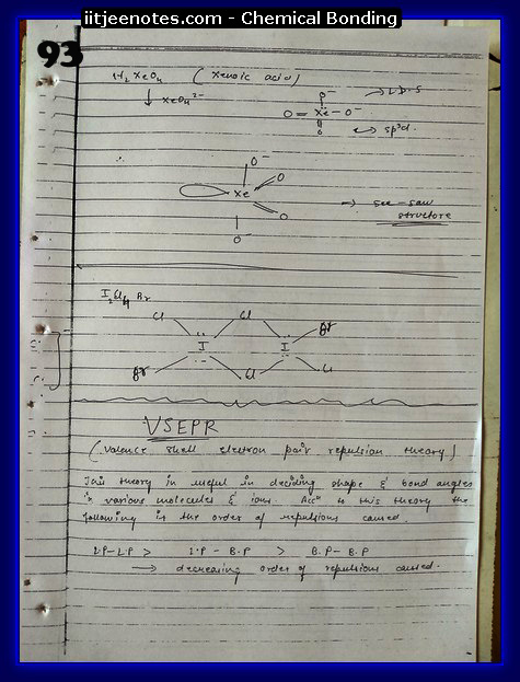 Chemical-Bonding Notes chemistry21
