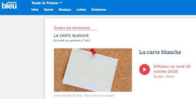 France Bleue la carte blanche