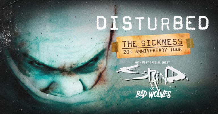 Disturbed Confirm 31-Date The Sickness 20th Anniversary Amphitheater Tour with very Special Guest Staind and Bad Wolves