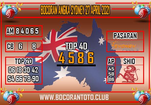 Bocoran Sydney 27 April 2021