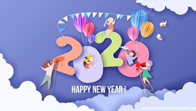Happy New Year 2020 Facebook & Twitter Cover Poster
