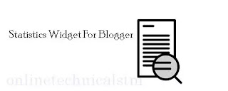 How To Add Statistics Widget For Blogspot
