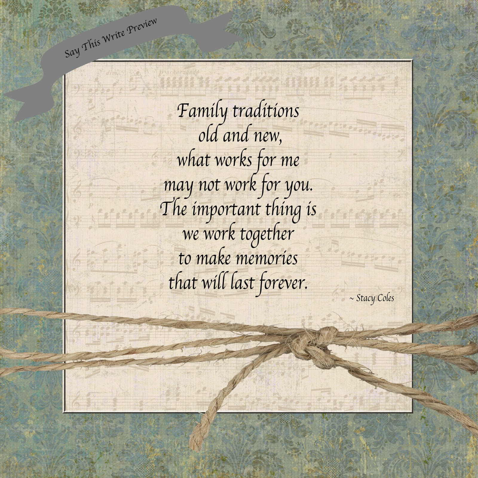 Say This Write Traditions Old And New